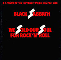 Обложка альбома Black Sabbath «We Sold Our Soul for Rock 'n' Roll» (1975)