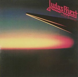 Обложка альбома Judas Priest «Point of Entry» (1981)