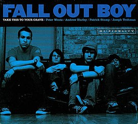Обложка альбома Fall Out Boy «Take This to Your Grave» (2003)