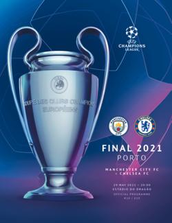 Официальная обложка финального матча Лиги чемпионов УЕФА 2020/21