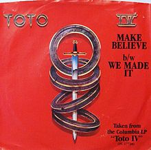 Обложка сингла «Make Believe» (Toto, 1982)
