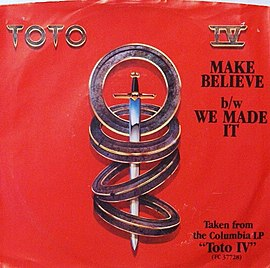 Обложка сингла Toto «Make Believe» (1982)