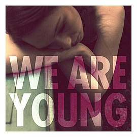Обложка сингла Fun при участии Жанель Монэ «We Are Young» (2011)