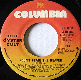 Обложка песни Blue Öyster Cult ««Don't Fear The Reaper»»