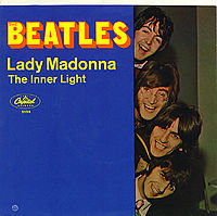 Обложка сингла «Lady Madonna» (The Beatles, 1968)