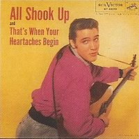 Обложка сингла «All Shook Up» (Элвиса Пресли, 1957)