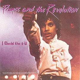 Обложка сингла Prince & The Revolution «I Would Die 4 U» (1984)