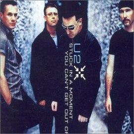 Обложка сингла U2 «Stuck in a Moment You Can't Get Out Of» (2001)