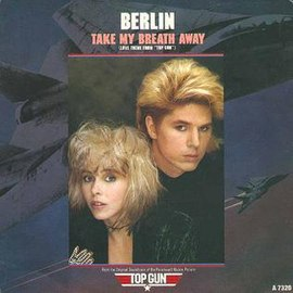 Обложка сингла Berlin «Take My Breath Away» (1986)