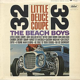 Обложка альбома The Beach Boys «Little Deuce Coupe» (1963)