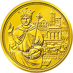 2008 Austria 100 euro The Crown of the Holy Roman Empire back.jpg