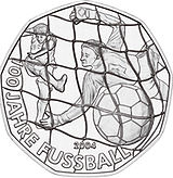 2004 Austria 5 Euro 100 Years Football back.jpg