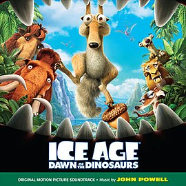 Обложка альбома Джона Пауэлла «Ice Age: Dawn of the Dinosaurs OST» ()