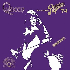 Обложка альбома Queen «Live at the Rainbow '74» (2014)