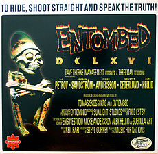 Обложка альбома Entombed «DCLXVI: To Ride Shoot Straight and Speak the Truth» (1997)