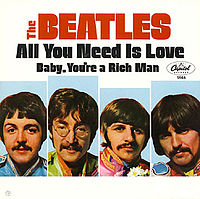 Обложка сингла «Baby, You're a Rich Man» («The Beatles», 1967)