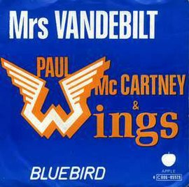 Обложка сингла Wings «Mrs Vandebilt» (1974)