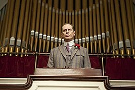 Nucky addresses the public after Chalky White shoots a Klansman.jpg