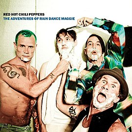 Обложка сингла Red Hot Chili Peppers «The Adventures of Rain Dance Maggie» (2011)