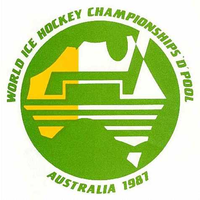 Логотип 1987 iihf world chionship group d