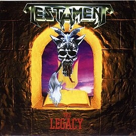 Обложка альбома Testament «The Legacy» (1987)