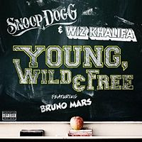 Обложка сингла «Young, Wild & Free» (Snoop Dogg и Уиз Халифа при участии Бруно Марса, )