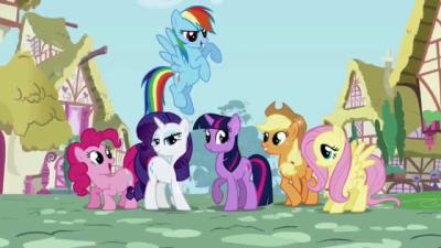 Главные персонажи: Эпплджек, Флаттершай, Сумеречная Искорка, Рэрити, Радуга Дэш, Пинки Пай.