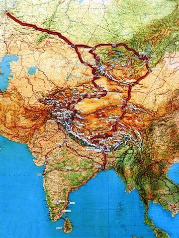 Маршруты Центрально-Азиатской экспедиции Н.К.Рериха. 1923-1928 гг
