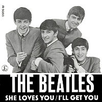 Обложка сингла «She Loves You» (The Beatles, 1963)