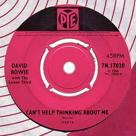Обложка сингла David Bowie with The Lower Third «Can't Help Thinking About Me» ()