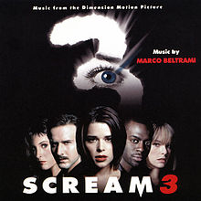 Обложка альбома Марко Белтрами «Scream 3: Music From The Dimension Motion Picture» (2000)