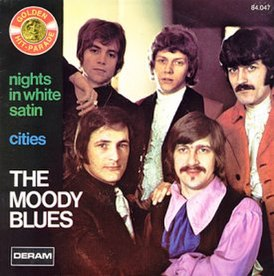 Обложка сингла The Moody Blues «Nights in White Satin» (1967)