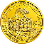 2008 Austria 100 euro The Crown of the Holy Roman Empire front.jpg