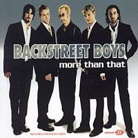 Обложка сингла «More than that» (Backstreet Boys, 2001)