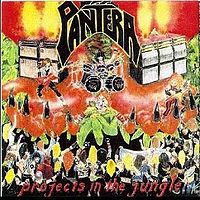 Обложка альбома Pantera «Projects in the Jungle» (1984)