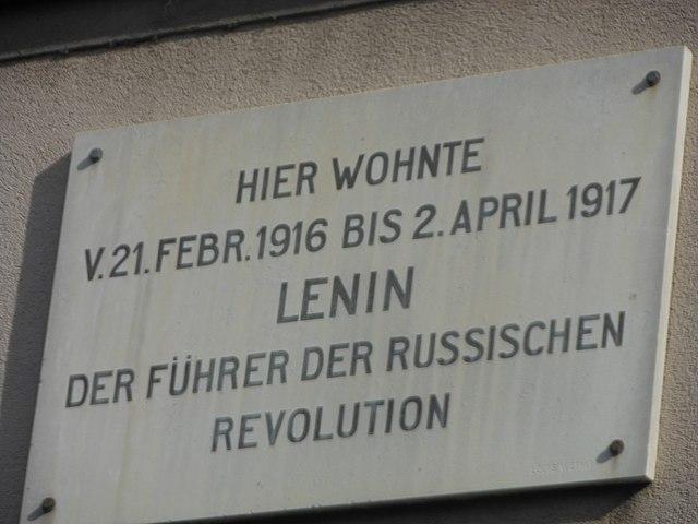 Памятная доска Ленину на доме в Цюрихе.jpeg