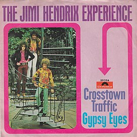Обложка сингла The Jimi Hendrix Experience  «Crosstown Traffic» ((1968))