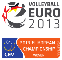 2013 European Volleyball Championship (Women) Logo.png