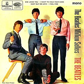 Обложка альбома The Beatles «The Beatles' Million Sellers» (1965)