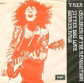 Обложка сингла T. Rex «Children of the Revolution» ()