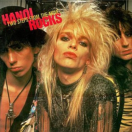 Обложка альбома Hanoi Rocks «Two Steps from the Move» (1984)