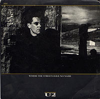 Обложка сингла «Where the Streets Have No Name» (U2, 1987)