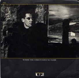 Обложка сингла U2 «Where the Streets Have No Name» (1987)