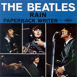 Обложка сингла The Beatles «Paperback Writer» (1966)