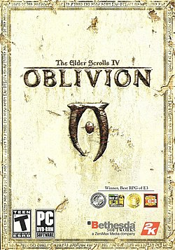 Обложка диска «The Elder Scrolls IV: Oblivion»