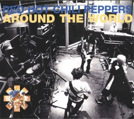 Обложка сингла Red Hot Chili Peppers «Around the World» (1999)