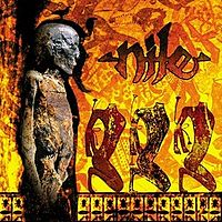 Обложка альбома Nile «Amongst the Catacombs of Nephren-Ka» (1998)