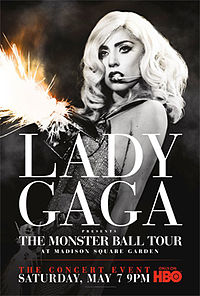 Обложка альбома Lady Gaga «Lady Gaga Presents the Monster Ball Tour: At Madison Square Garden» (2011)