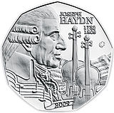 2009 Austria 5 Euro 200th Anniversiary of the Death of Joseph Haydn front.jpg
