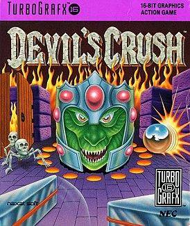 Обложка североамериканского релиза Devil's Crush на PC Engine